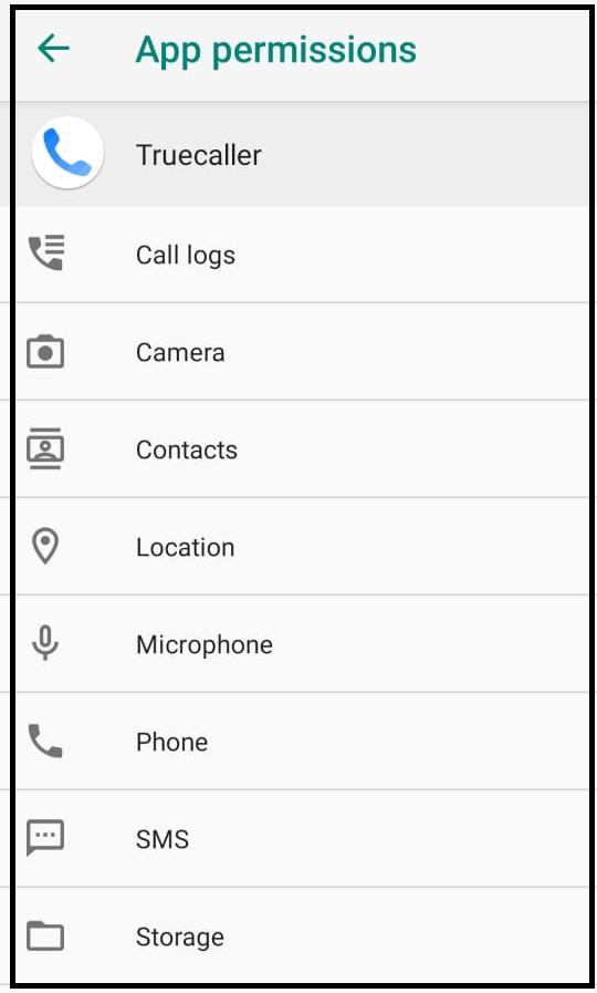 Truecaller App Permissions