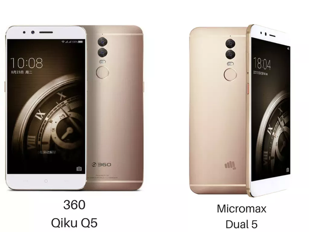Difference between OEM and ODM | Qiku 360 Q5 Plus and Micromax Dual 5