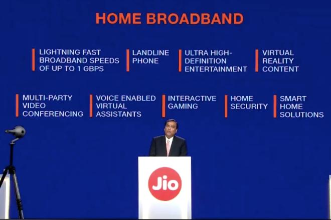 Jio Gigafiber Home Broadband