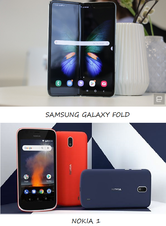 Android vs iOS Samsung Galaxy Hold - Expensive Android Phone Nokia 1 - Cheapest Android Phone