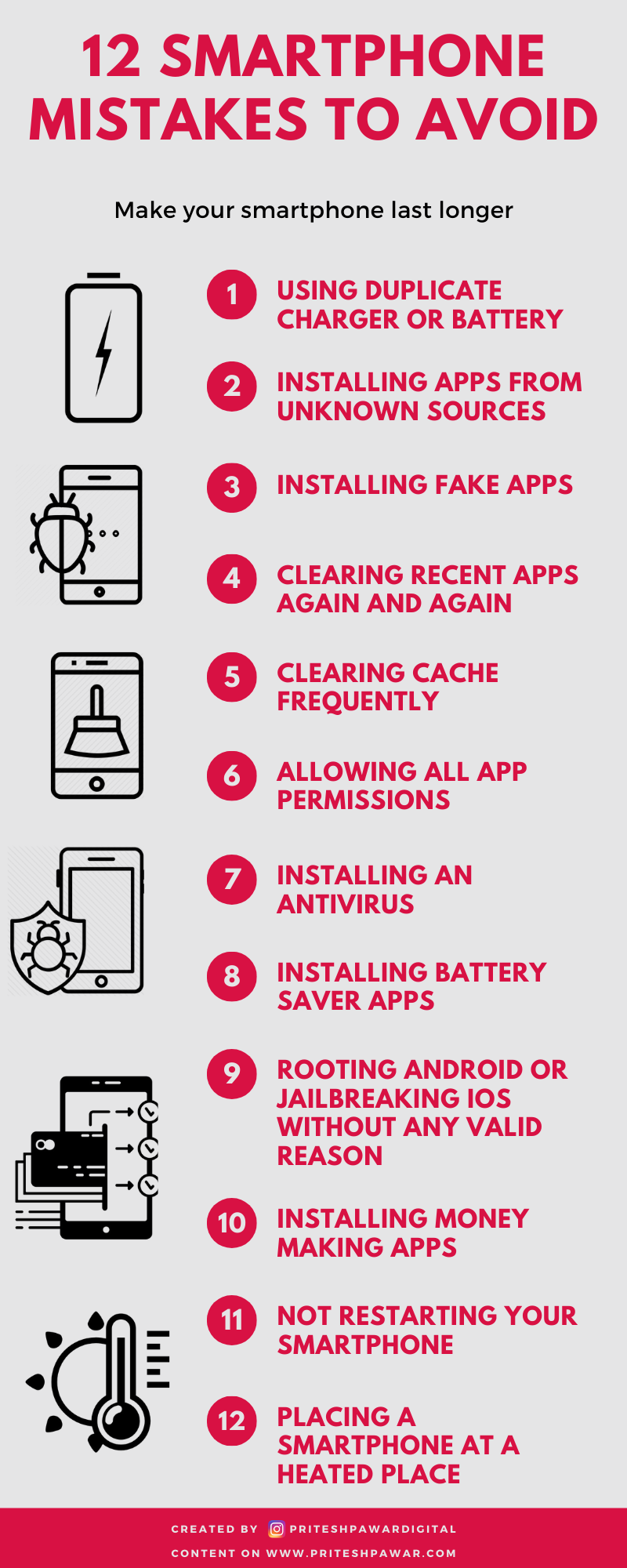 12 Mistakes To Avoid While Using A Smartphone