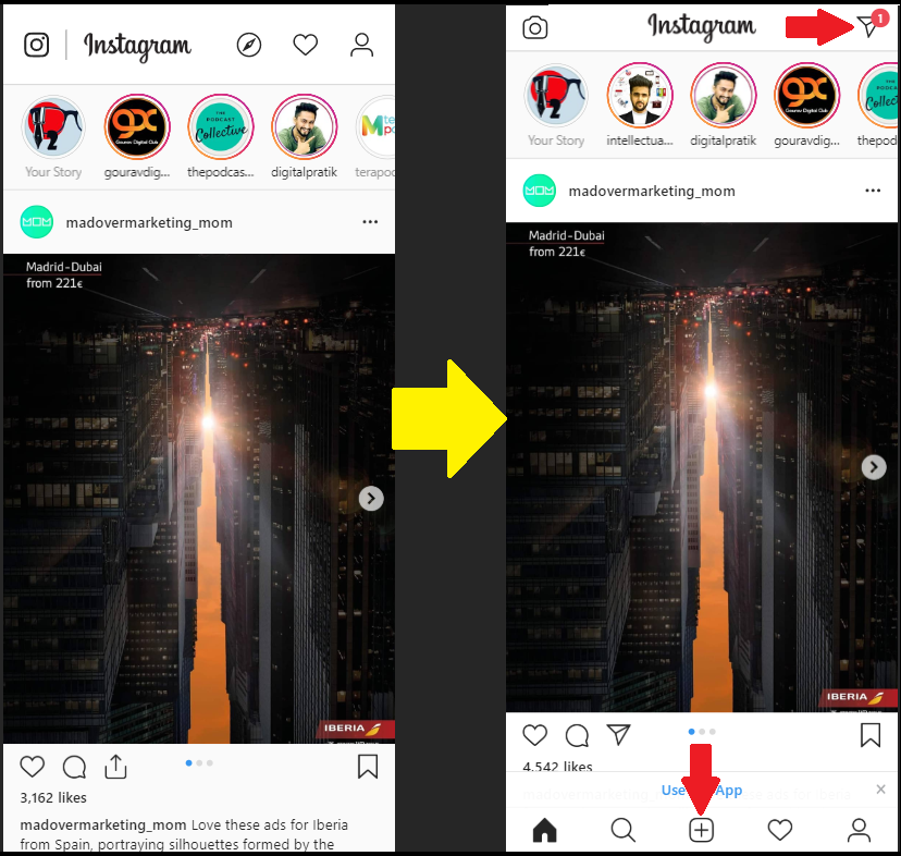 Refresh the browser to use Instagram on PC