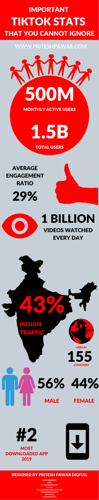 Infographic for TikTok Stats 2020