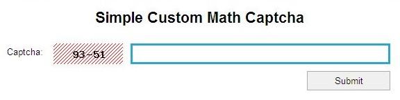 Math Problem Based CAPTCHA