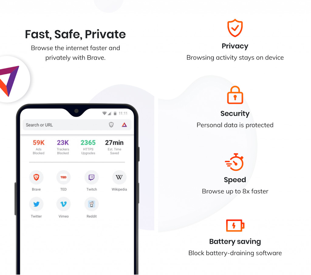 Brave browser has made itself a strong brand under privacy apps