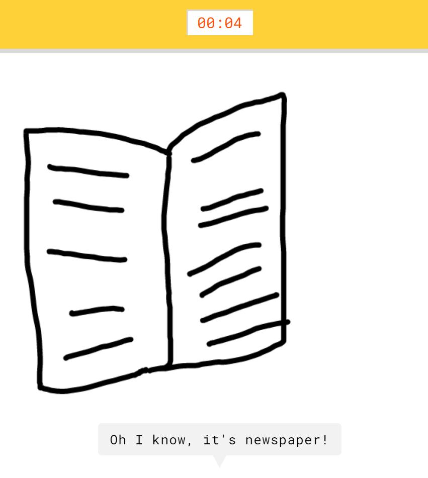 Google Quickdraw Newspaper
