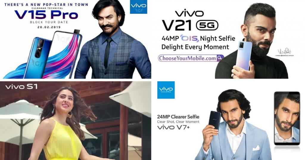 Vivo Brand Ambassadors - Aamir Khan, Virat Kohli, Sara Ali Khan, Ranveer Singh